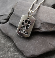 Dog Tag style pawprint necklace